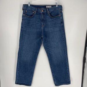 Cremieux Men's Straight Jeans Blue Stretch 38 x 30